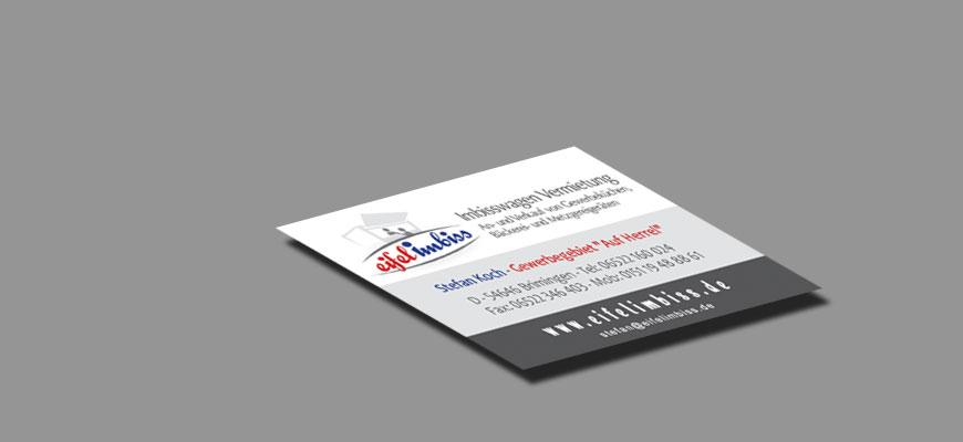 Logo Ci Printmedien Visitenkarten Flyer Wir Machen Es
